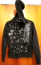 MICKEY MOUSE youth small hoodie Disney hooded sweatshirt w/ sequins Lightning