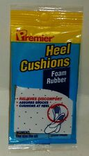 1 Pair Of Premier Foam Rubber Heel Cushions Womens One SZ For All Shoes NIP