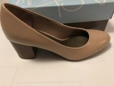 Life Stride Parigi Block Taupe Heels - Brand New! Size 9.5 Medium
