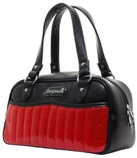 Sourpuss Red Sabrina Purse NEW Glitter Vinyl Hot Rod Retro Rockabilly Matte