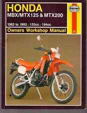1983-1993 Honda MBX MTX 125 MTX 200 Repair Haynes Owners Workshop Manual