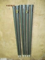 4' FOOT ALUMINUM ANTENNA TOWER MAST SECTIONS POLE UNUSED 6 POLES