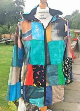 NEW PATCHWORK JACKET SIZE UK 10 12 HIPPIE BOHO GYPSY DREADS TOP FESTIVAL COAT