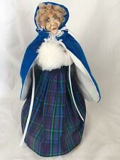 OOAK Clay Old Lady Ugly Face Figure Figurine Fancy Dress & Cape