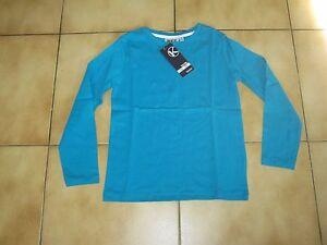 T-shirt ML bleu uni pour garçon en 8 ans neuf