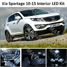 DELUXE KIA SPORTAGE 3 SL 2010-2015 INTERIOR FULL WHITE LED BULBS LIGHT KIT SET
