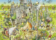 NEW! Heye Funky Zoo Jurassic Habitat 1000 piece comic cartoon jigsaw puzzle