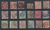 GB QV Collection Of 21 Values Fine Used JK109