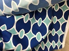 CRATE & BARREL ROBERT ALLEN ANTHROPOLOGY OUTDOOR/INDOOR BLUE MODERN FABRIC 12y