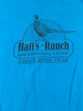 Vintage Hatt's Ranch T Shirt Green River Utah Size Large Upland Game Bird Hunti