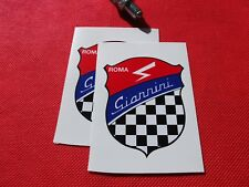 Pair of  GIANNINI ROMA Stickers  Classic Fiat Abarth