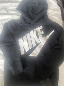 NIKE  Boys Toddler Athletic Black Hoodie Shirt Top Sz Xs 4 4T NWT $45