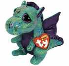 TY Beanie Boos - CINDER the Green Dragon (Glitter Eyes) (Medium -MWMTs