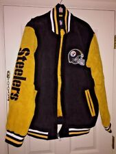 NFL PITTSBURGH STEELERS TEAM GENUINE LEATHER SUEDE Coat LINED JACKET MENS  SZ XL 6460a2754