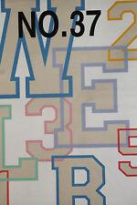 BROTHER / BERNINA ALPHABET & NUMBERS #37 EMBROIDERY CARD - SA 337