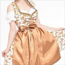 Germany,German,Trachten,May,Oktoberfest,Dirndl Dress,3-pc.Sz.18,Beige,Orange..US