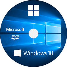Microsoft Windows 10 HOME 64 Bits Media Full Install DVD Disc No License Wanted