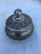 925 STERLING SILVER REPOUSSE VANITY BOX