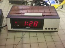 Vintage Cosmo Alarm Clock Model E-501 Red LED - Working