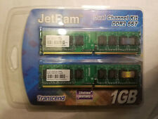 Transcend JM1GDDR2-6K 1GB (2 x512MB) JetRam DDR2-667 PC2-5300 240pin RAM