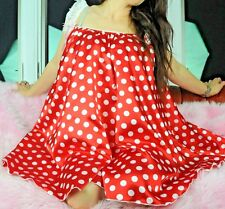 "RED POLKA DOT Babydoll mini sweeping 120"" night gown nightie dress Sissy Panties"