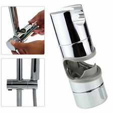 Chrome Shower Rail Head Slider Holder Adjustable Bracket Replacement 18 to 25mm