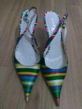 lotto 896 scarpe décolté sandali fantasia PITTI ORO n38