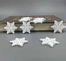 50pcs GROSSE Holz Knopf / Knöpfe Nähen Schnee-Muster-Weihnachtsserie 30mm