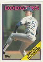 FREE SHIPPING-MINT-1988 Topps Brian Holton #338 DODGERS PLUS BONUS CARDS