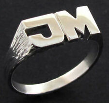 NEW 925 STERLING SILVER PERSONALISED ANY INITIAL RING 3g UK