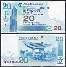 HONG KONG - BANK OF CHINA  20 DOLARES 2009 P. 335   SC  UNC