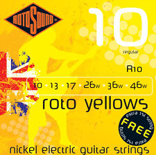 Rotosound R10 Roto Yellows Electric Guitar strings regular gauges 10-46