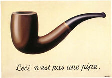 La Trahison des Images by Rene Magritte Offset Lithograph Art Print Pipe Poster