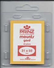 Package of 40 Prinz CLEAR Mounts 31 x 50