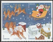 US 4715a Holiday Santa & Sleigh forever block set (4 stamps) MNH 2012