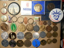 40 Different Statue Of Liberty Tokens, Medals, Pins & More. Postpaid