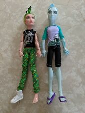 "Monster High 11"" Doll GIL WEBBER GILLINGTON DEUCE MANSTER BEACH SWIM Boy LOT"
