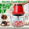 AU 2L Electric Blender Lid Food Chopper Meat Grinder Household Processor Machine
