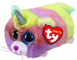 "TY TEENY BEANIE - HEATHER CAT TEENY  4"" PLUSH SOFT TOY 41256"