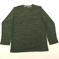 Tommy Hilfiger Mens Jumper SMALL Chest 39'' Green Cotton Pullover Knit