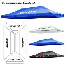 10x20ft Customizable Canopy Top Pop Up Tent Custom Print Vendor Booth Trade Show