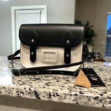 The Cambridge Satchel Company ~ Handbag Mini Satchel Black Crossbody Bag Leather