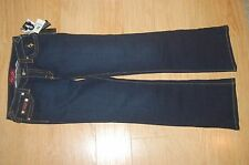 BABY PHAT Denim Jeans Blue Size 11 Women STRETCH Straight Leg BAMBOKISS NWT