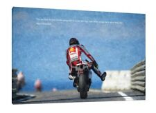 "Marco Simoncelli 30"" x 20"" Canvas  VERY rare Moto GP Oil Honda Framed Picture"
