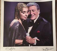 Lady Gaga Tony Bennett Signed 20x20 Lithograph Auto Limited To 100 JSA LOA