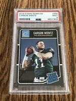 2016 Donruss Carson Wentz PSA 9 Mint Rated Rookie Colts RC #356