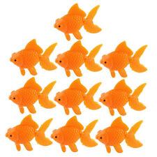 Aquarium Orange Plastic Goldfish Ornament Aquarium Decoration 10 pcs M3S5
