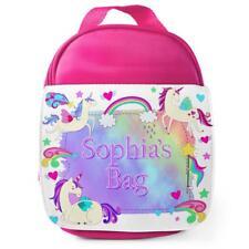 Personalised Lunch Bag UNICORN MAGIC Pink School Girls Childrens Kids Box KS142