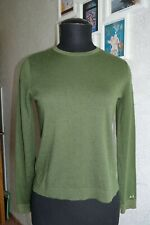 SUN 68 OLIVE GREEN WOOL BLEND SWEATER Size S