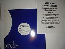 """PROMO House 12"""" Angie Stone I Wanna Thank Ya (Hex Mac Mix) J  NM w Release Sheet"""